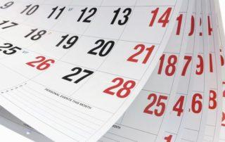 calendrier de cloture comptable
